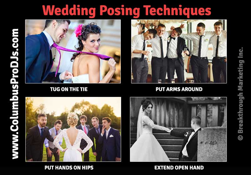 Wedding posing techniques for awkward brides and grooms