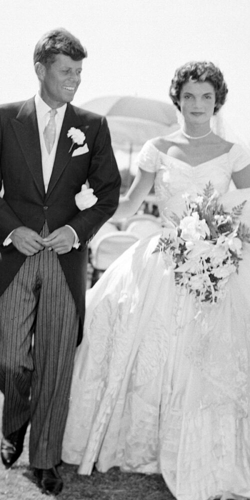 These weddings were notable for the celebrity and the elegance of each couple and the iconic wedding gowns worn by the brides.