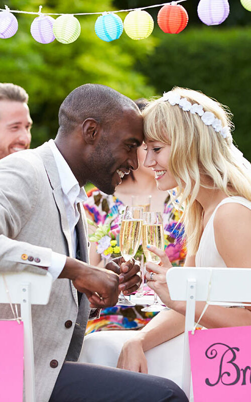 Marriages are more mixed than ever. The Knot tells us that 51% of couples marry someone with a different background.